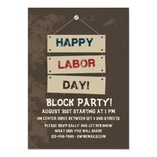 Labor Day Sign Invitation