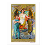 Labor Day Souvenir Laborers with Lady Justice Post Card