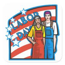 Labor Day Square Sticker