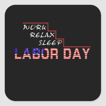 Labor Day Square Sticker