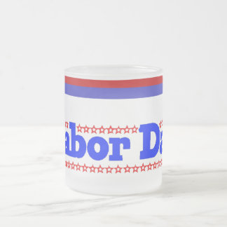 Labor Day Stars - Frosted Glass Coffee Mug