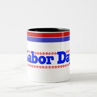 Labor Day Stars - Two-Tone Coffee Mug