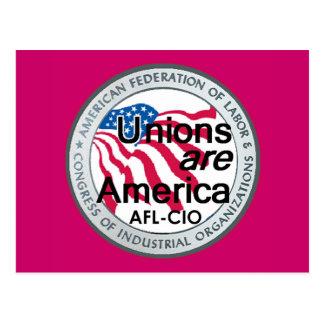 Labor Day Unions Postcard