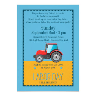 Labor Day Vehicle Invitation