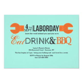 Labor Day Wrench Invitation