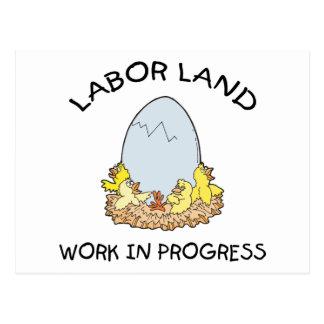 Labor Land Work In Progress Post Cards