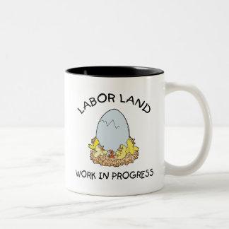 Labor Land Work In Progress Two-Tone Coffee Mug