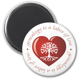 Labor of Love Heart 2 Inch Round Magnet