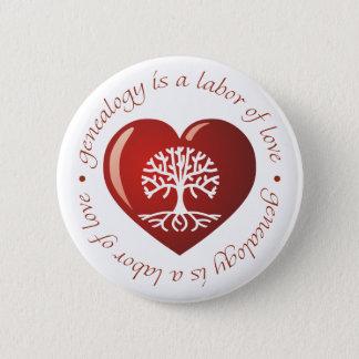 Labor of Love Heart Button