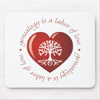 Labor of Love Heart Mouse Pad