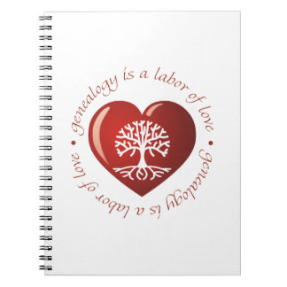 Labor of Love Heart Notebook