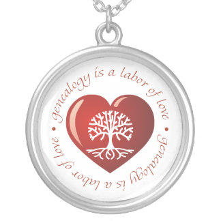 Labor of Love Heart Silver Plated Necklace