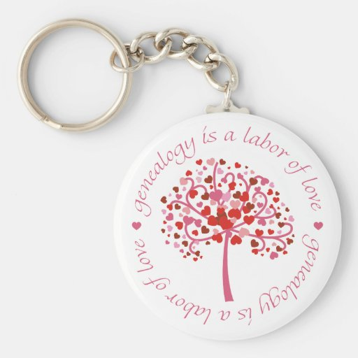 Labor of Love Tree Basic Round Button Keychain