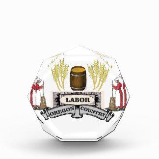 labor Oregon country Acrylic Award