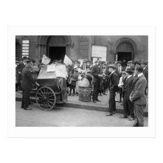 Labor Strike Beggar, early 1900s Postcard