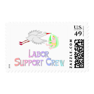 Labor Support Crew Postage Stamps