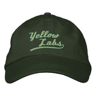 Laboratorio amarillo del equipo gorras de béisbol bordadas