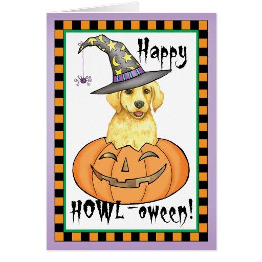 Laboratorio amarillo Halloween Tarjetón