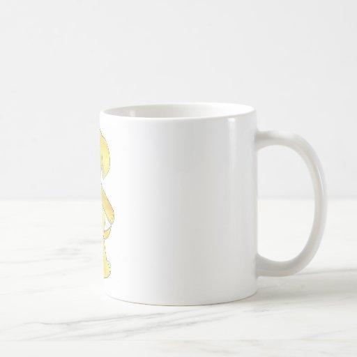 Laboratorio amarillo taza
