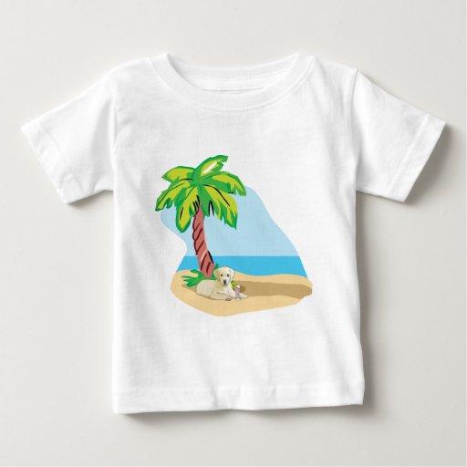 Laboratorio amarillo tropical camiseta