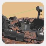 Laboratorio de ciencia de Marte 3 Pegatina Cuadrada