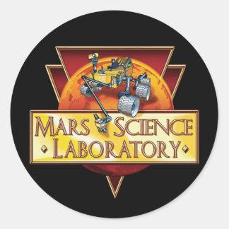 Laboratorio de ciencia de Marte Pegatina Redonda