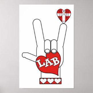 LABORATORIO de la muestra del ASL te amo (LABORATO Posters