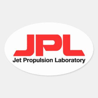 Laboratorio de la propulsión a chorro pegatina ovalada