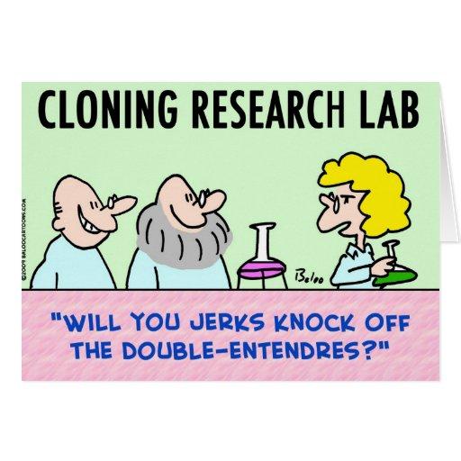 laboratorio de la reproducción doble-entendres tarjeta