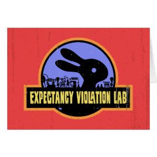 Laboratorio de la violación de la expectativa tarjeta de felicitación