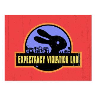Laboratorio de la violación de la expectativa tarjetas postales