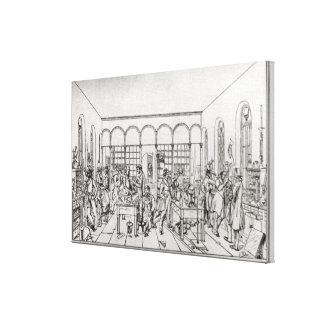 Laboratorio de química de barón Justus von Liebig Lienzo Envuelto Para Galerías