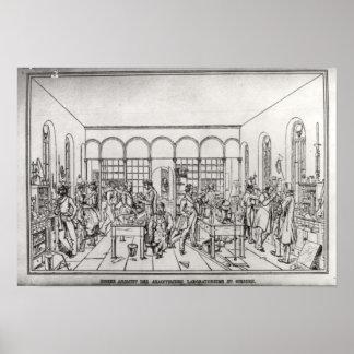 Laboratorio de química de barón Justus von Liebig Póster