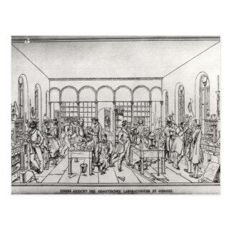 Laboratorio de química de barón Justus von Liebig Tarjeta Postal
