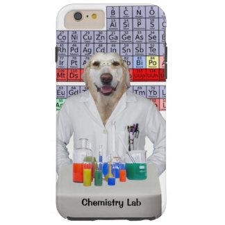 Laboratorio de química/perro divertidos funda de iPhone 6 plus tough