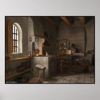 Laboratorio del alquimista póster