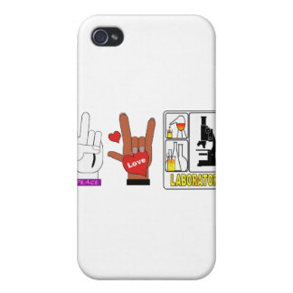 LABORATORIO DEL AMOR DE LA PAZ iPhone 4/4S CARCASA