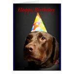 Laboratorio del card~Chocolate del feliz cumpleaño Felicitacion