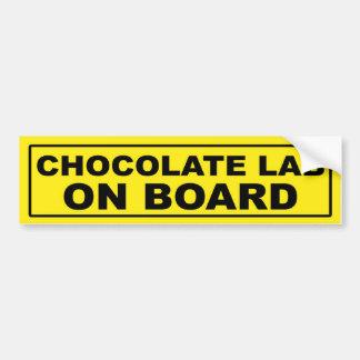 Laboratorio del chocolate a bordo pegatina para auto