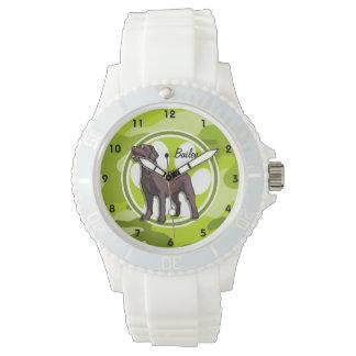 Laboratorio del chocolate; camo verde claro, relojes de pulsera