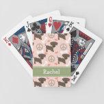 Laboratorio del chocolate del amor de la paz baraja de cartas