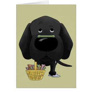 ¿Laboratorio negro - caza del hueso de Pascua, Tarjeta De Felicitación