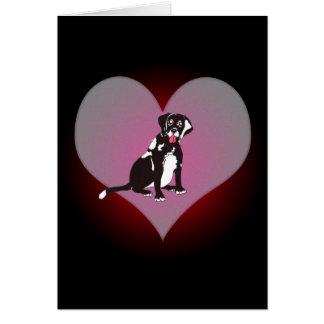Laboratorio negro de Connie mi tarjeta del corazón