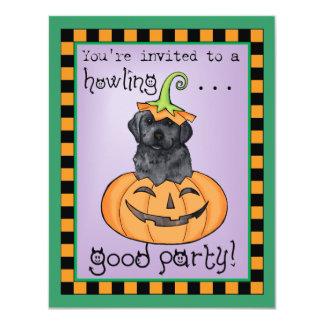 """Laboratorio negro de Halloween Invitación 4.25"""" X 5.5"""""""