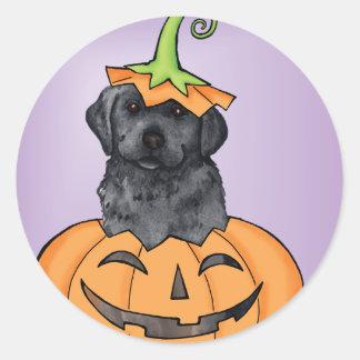 Laboratorio negro de Halloween Pegatina Redonda