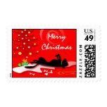 Laboratorio negro del navidad del sello