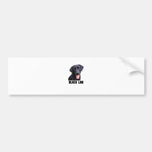 Laboratorio negro etiqueta de parachoque