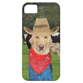 Laboratorio/perro del granjero de lechería funda para iPhone 5 barely there
