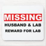 Laboratorio que falta del marido alfombrillas de ratón