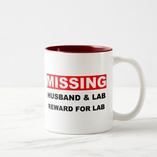 Laboratorio que falta del marido taza